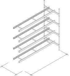 4-Level Single Wide Conveyor Addition Section