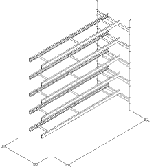 5-Level Single Wide Conveyor Addition Section