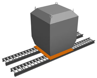Roller Conveyor Track pair rendering