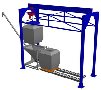 Bulk Bag Gantry rendering