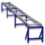 A5 Single Wide Skate Wheel Mold Conveyor