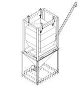 Batchmaster-specific Ground Hopper and Bulk Bag Suspender Frame
