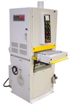 "Gruber Systems' 15"" Panel Sander quickly planes down flat parts to a uniform thickness."