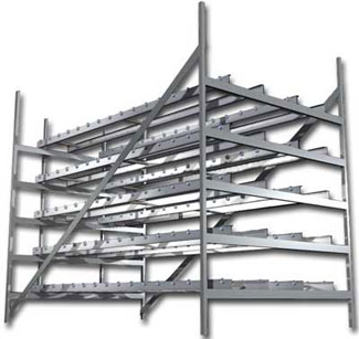 Multi-level mold storage system