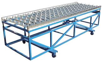 The Ball Cart allows repositioning and height adjustments to your existing conveyor system for molds moving on a conveyor line to the Autocaster casting machine.